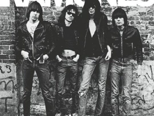 The original lineup of the Ramones is seen on the cover