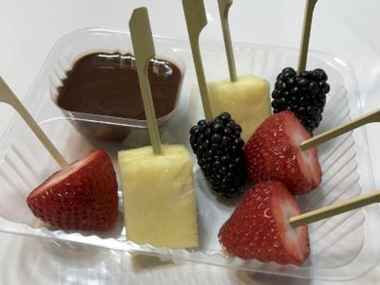 The Fruit and Chocolate Fondue includes strawberries,