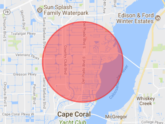 Cape Coral Police Department has asked the public to avoid the area around 5/3 Bank on Del Prado Boulevard South as they search for a robbery suspect.