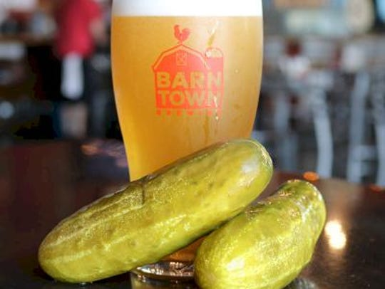 Pickle Beer, a light golden ale with a taste of pickle