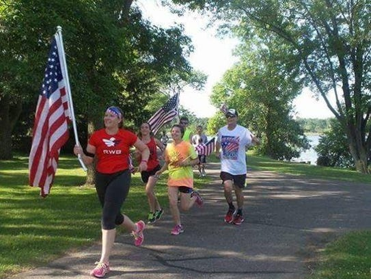 The third annual Stevens Point Running of the Flag