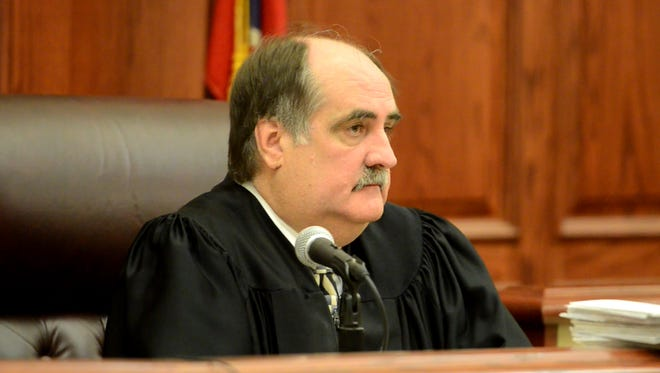 Decatur County Judge Rick Wood presided over the hearing scheduled for Mark Pearcy on Monday morning.