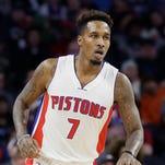 Grade: B+. FILE - Detroit Pistons guard Brandon Jennings.