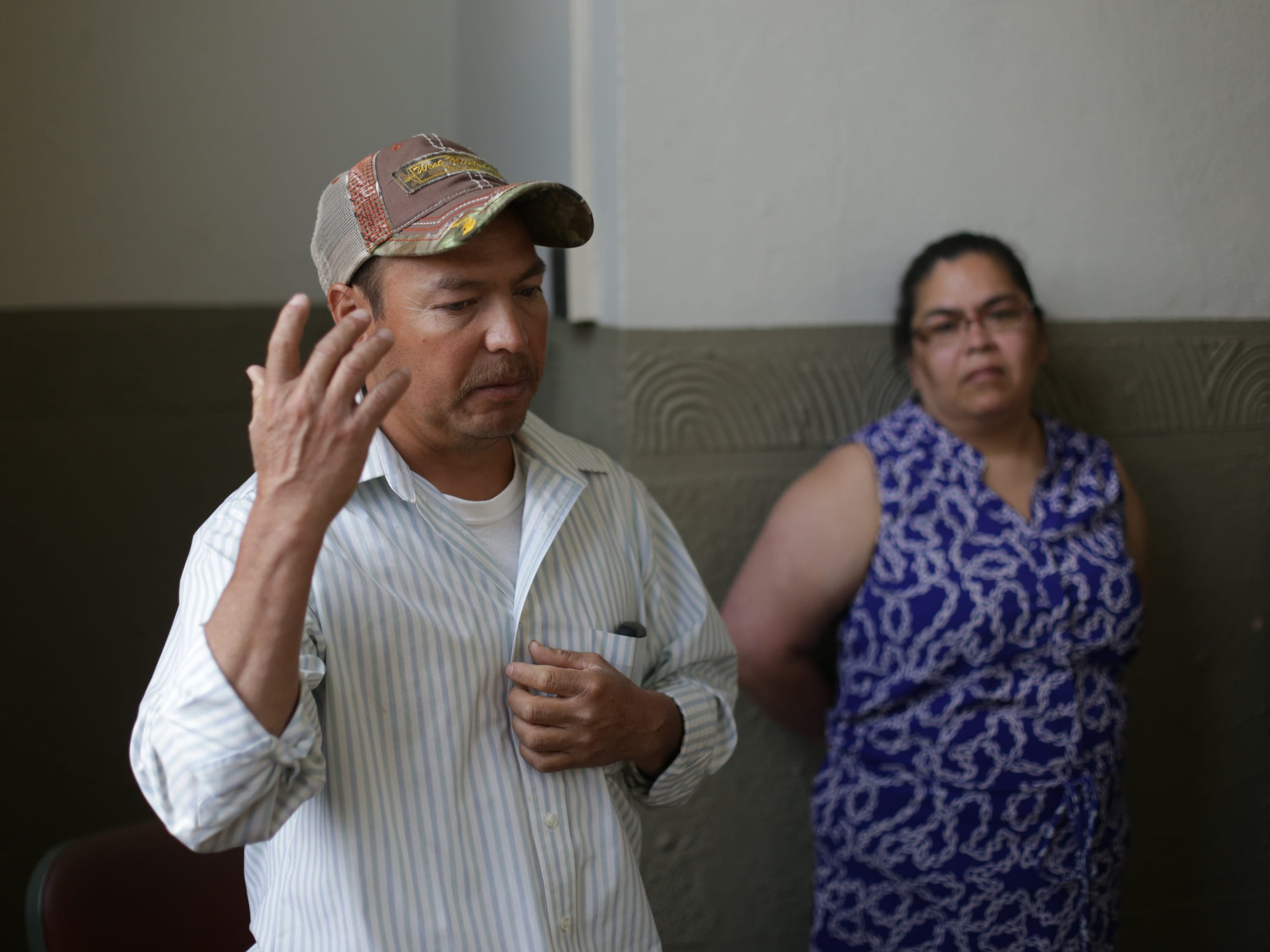 Jose Perez talks about his son, Victor, with his wife,