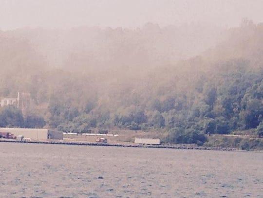 Boaters on Seneca Lake Monday could see smoke drifting