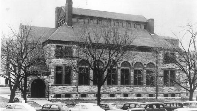 The Topeka Public Library was located from 1883 to 1953 at this building on the grounds of the Kansas Statehouse.