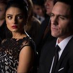 "Aislinn Derbez and Mauricio Ochmann in the romantic comedy ""A La Mala."""