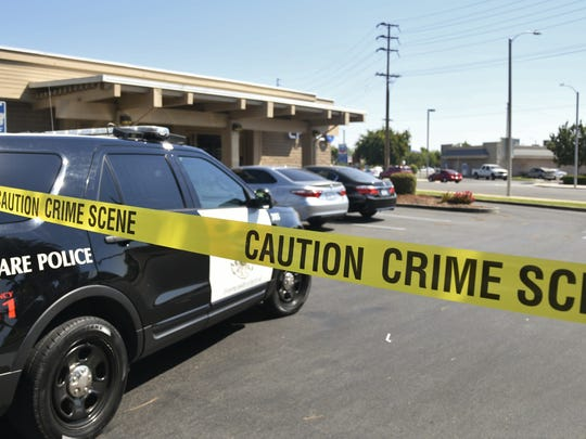Tulare police are investigating a robbery at Chase bank.