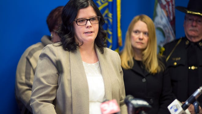 Broome County Health Director Rebecca Kaufman, speaking during a news conference in January, was one of the appointments confirmed at Thursday's legislative session.