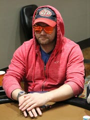 Muskegon's Nic Manion has a huge chip stack entering