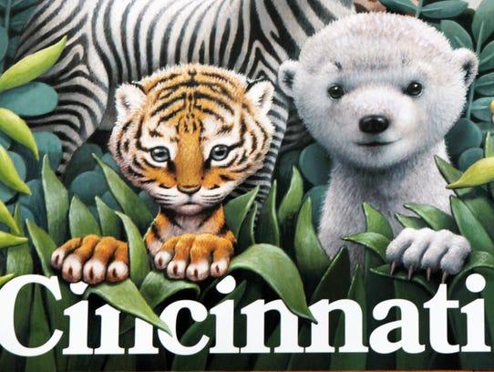 "Artist Loren Long's ""Zoo Babies"" poster includes a"