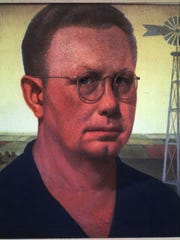 """Self Portrait,"" which Grant Wood painted in 1932."