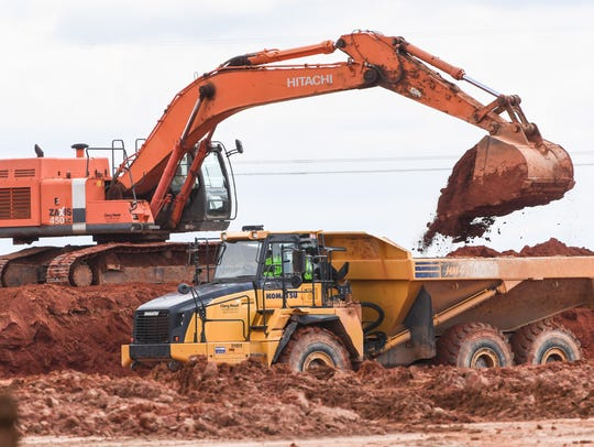 Grading at the site of new industrial manufacturing