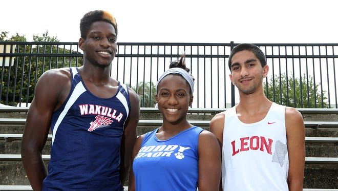 All-Big Bend Players of Year: Corion Knight (Wakulla), Caitlin Wilson (Godby), Sukhi Khosla (Leon). Not pictured: Darrielle McQueen (NFC).
