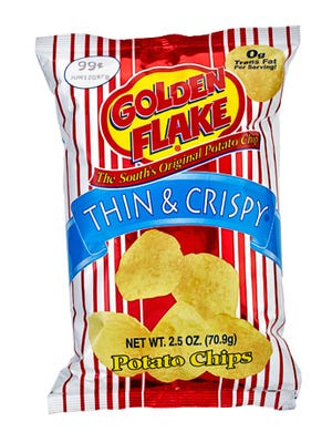 Golden Flake products are southern favorites.