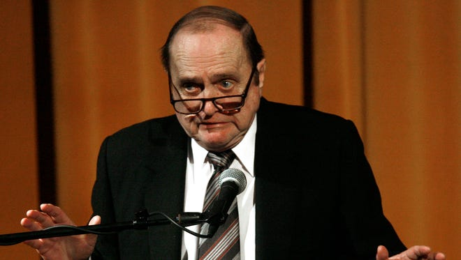 Bob Newhart, shown speaking in 2008 at Eisenhower Medical Center in Rancho Mirage, will perform Friday at the McCallum Theatre.