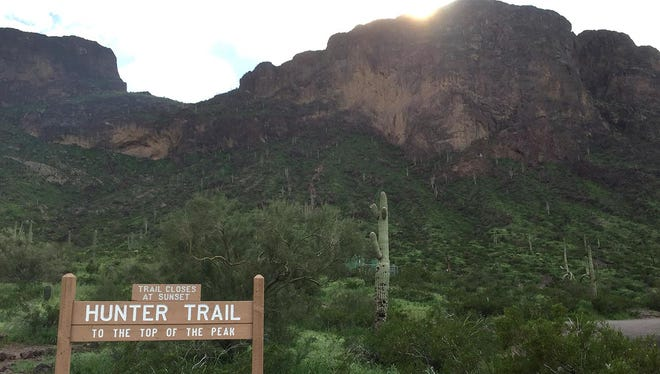 Try Hunter Trail at Picacho Peak in Tucson.