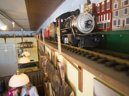 The model train was a popular feature at the Yum Yum Tree restaurant in downtown Brighton, shown Monday, May 6, 2013.