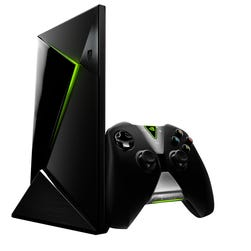 The Nvidia Shield video game console.