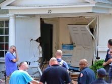 Car hits a building in Montclair