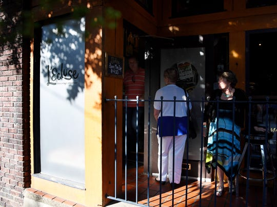 Accessible from the tiny front patio of Bouchon, by