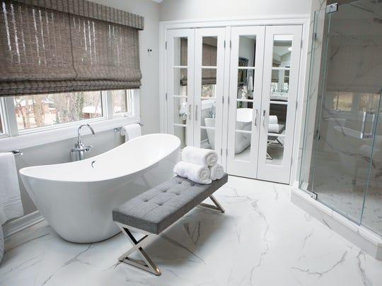 Master bathroom in Upper Saddle River designed by Antonella