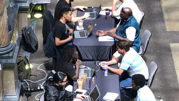A recent job fair at the Rochester City Hall attracted several area residents looking to be Uber drivers.