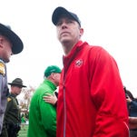 Nov 27, 2015; Bowling Green, KY, USA; Western Kentucky Hilltoppers head coach Jeff Brohm walks on the field after the second half against Marshall Thundering Herd at Houchens Industries-L.T. Smith Stadium. Western Kentucky Hilltoppers won 49-28. Mandatory Credit: Joshua Lindsey-USA TODAY Sports
