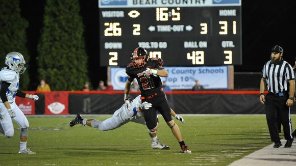 Pisgah senior Trey Morgan became the season's first Western North Carolina receiver to surpass 1,000 yards on Friday.
