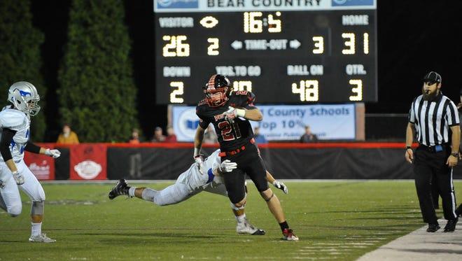Pisgah senior Trey Morgan became the season's first Western North Carolina receiver to surpass 1,000 yards on Friday.