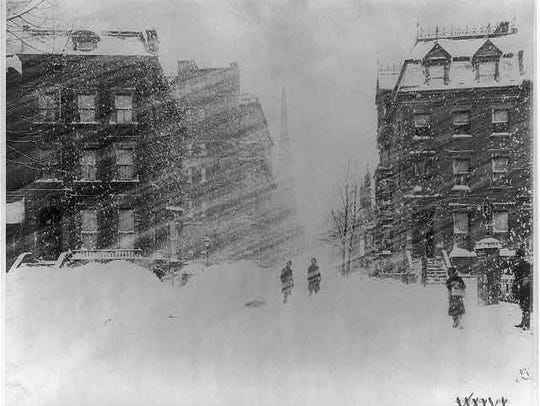 The Great Blizzard of 1888 hit coastal cities, including