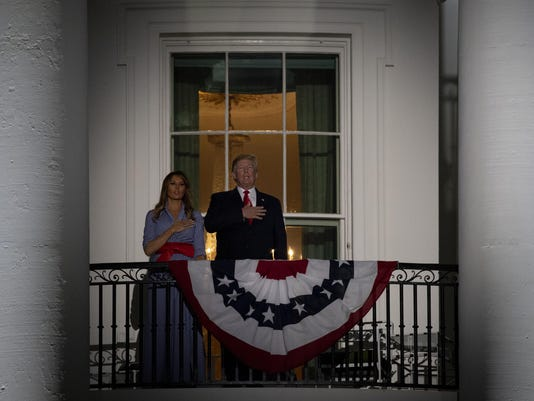 President And Mrs Trump Host Picnic And Fireworks At White House On 4th Of July