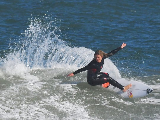 Practicing for the inaugural Florida Pro Surf competition