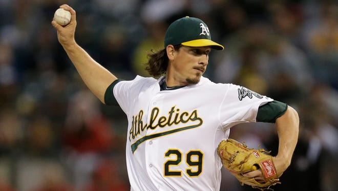 Jeff Samardzija was traded from the Oakland A's to the Chicago White Sox at last week's MLB winter meetings.