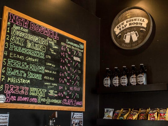 The interior of New Boswell Brewery's taproom in the