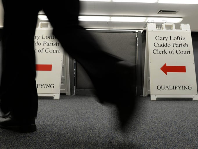 First day of qualifying for the Nov. 4 primary Wednesday Aug. 20, 2014 at the Caddo Parish Clerk of Court