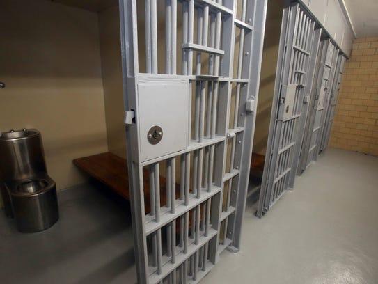 Prisoner holding cells at Port Chester police headquarters,