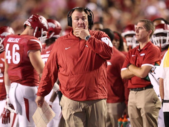 Arkansas coach Bret Bielema is one of college football's
