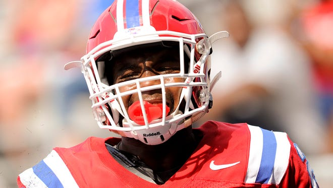 Louisiana Tech running back Kenneth DIxon was ejected from Saturday's game against UL Lafayette.
