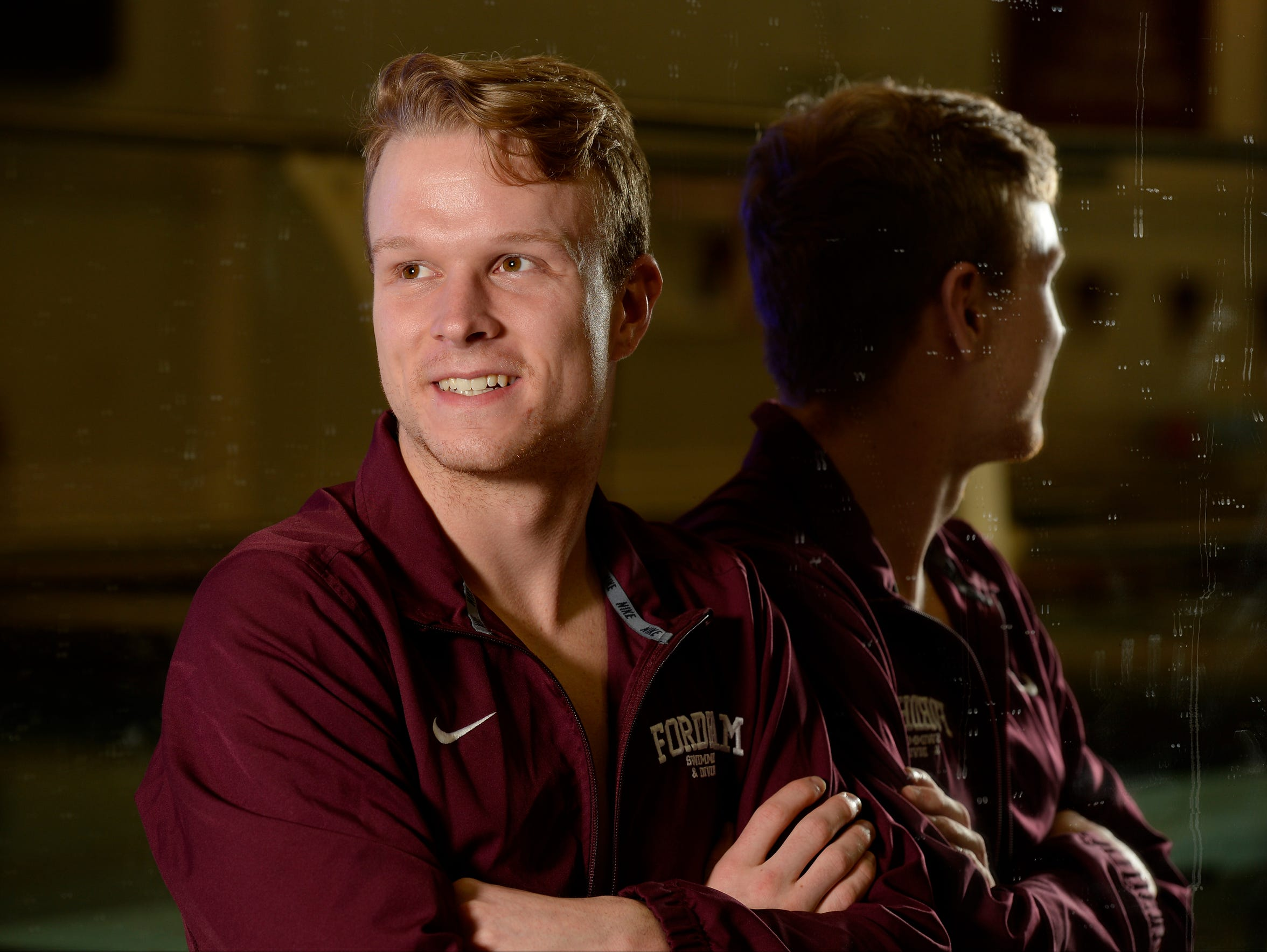 Fordham swimmer Connor Griffin has found his internal