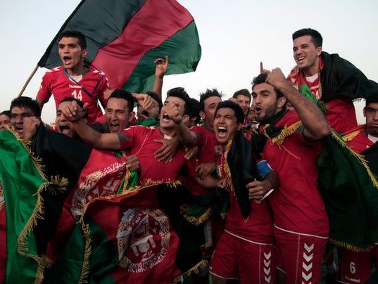 AP Afghanistan  Pakistan Soccer Football Returns