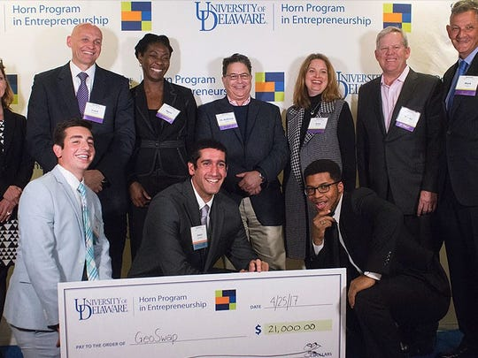 GeoSwap, which is comprised of the founder and CEO, senior biomedical engineering major Jason Bamford, senior electrical engineering major Keith Doggett and senior finance major Jordan Gonzalez, took home $21,000 to further grow their venture