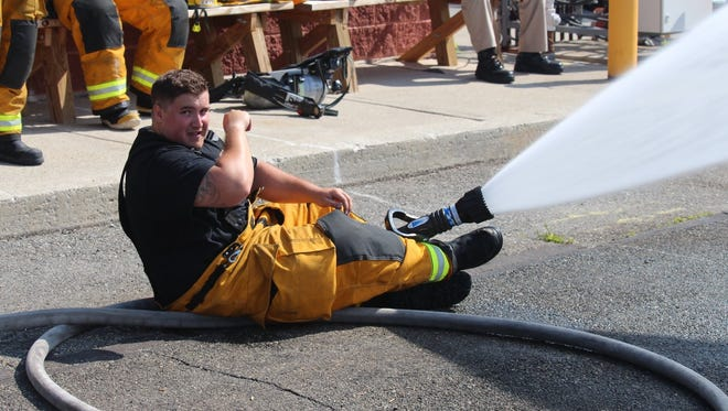Shawn Sturdy of the Saddle Brook Fire Department