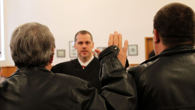 Nearly all local government officials were in attendance at the swearing in ceremony led by Circuit Judge Shawn Womack on New Year's Day at the Baxter County Courthouse.