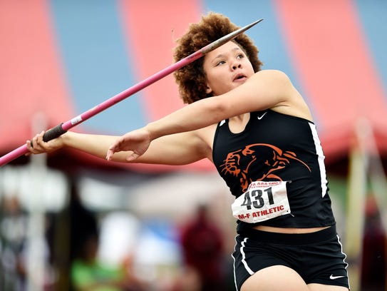 Palmyra's Kirstin West captured the 3A district title