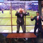 Bill Cowher jumped through a table and instantly joined Bills Mafia