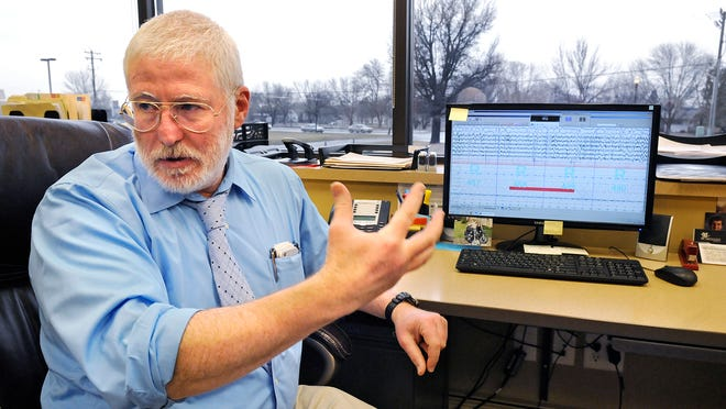 Dr. Mustafa Ucer has returned to work as medical director at sleep disorder center Lakeland Health Services in St. Cloud. He is pictured talking about results displayed from a patient's sleep study.