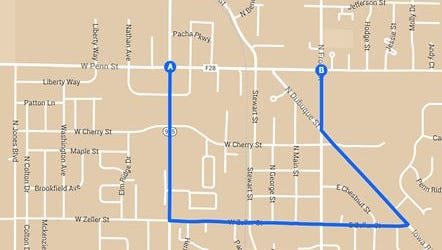 Penn Street traffic from the east of Highway 965 will be detoured to Front, Dubuque and Zeller streets.