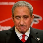 Atlanta Falcons owner Arthur Blank is seen at a news conference last Dec. 29.