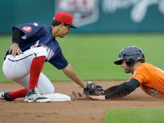 Indianapolis Indians second baseman Cole Figueroa (37)